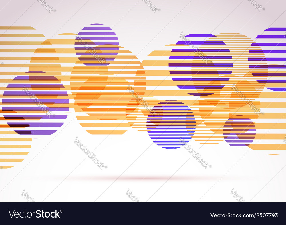 Retro round circle striped elements background vector | Price: 1 Credit (USD $1)