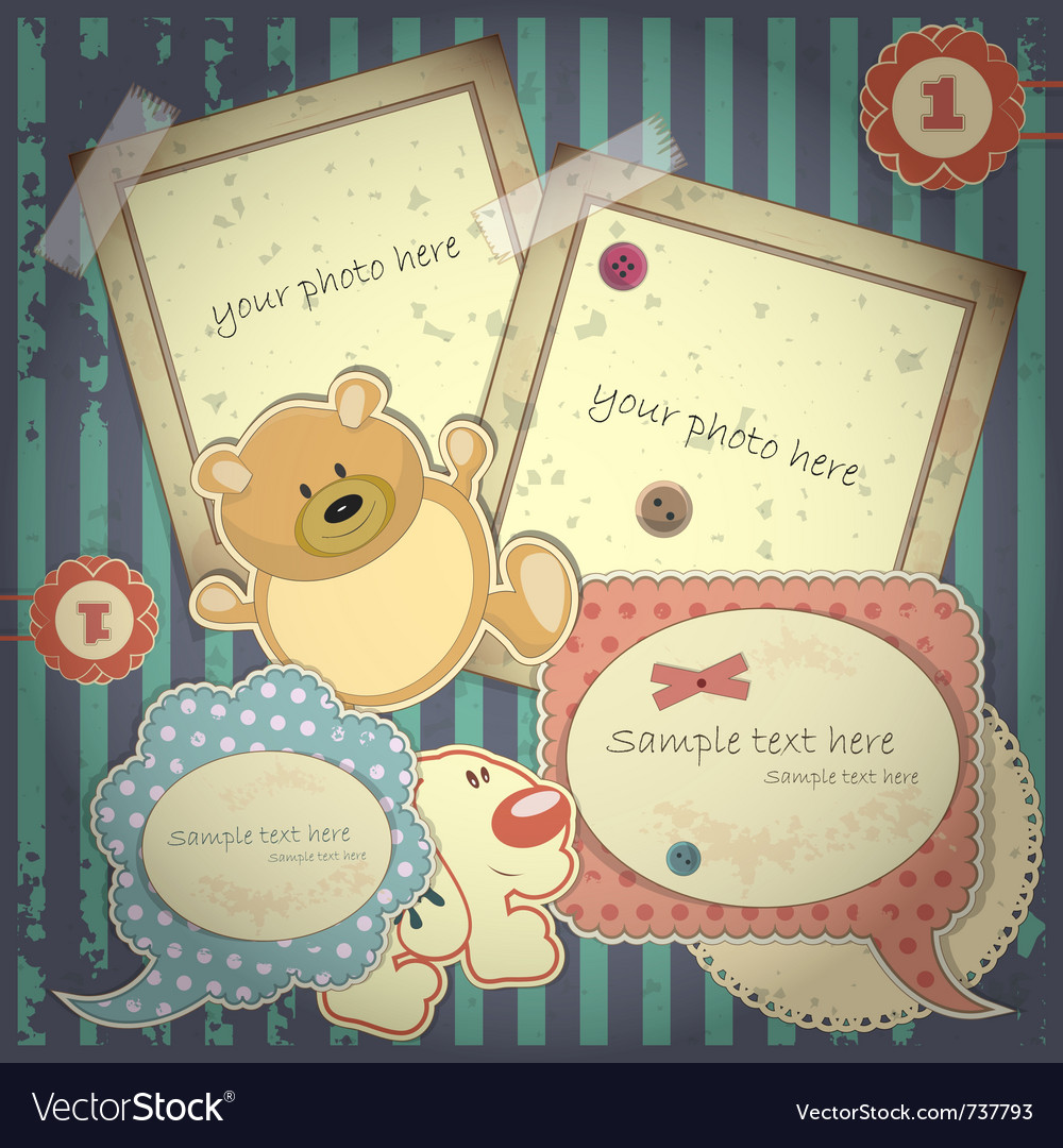 Scrapbook vintage vector | Price: 3 Credit (USD $3)