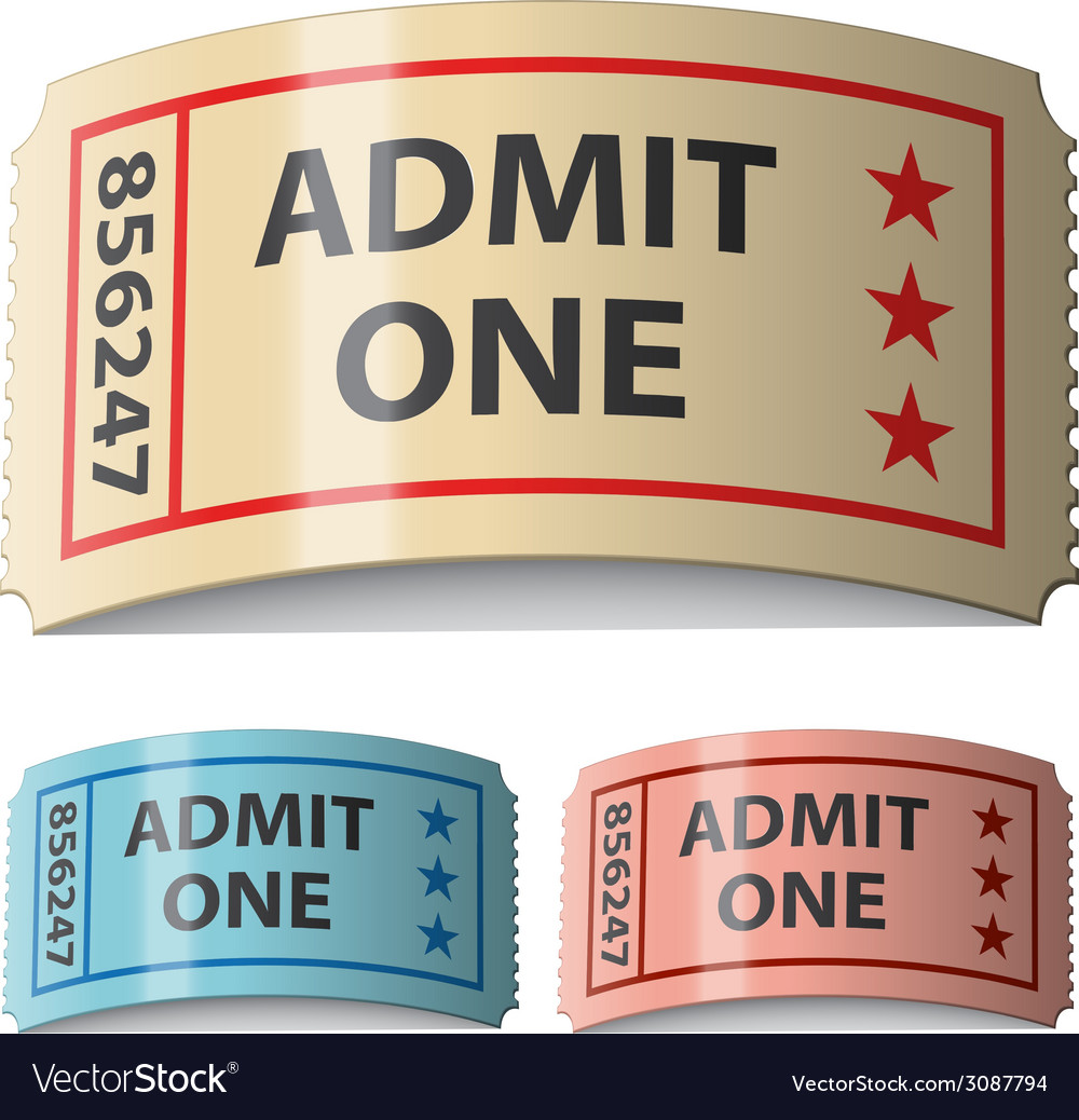 3d shiny curled tickets vector | Price: 1 Credit (USD $1)