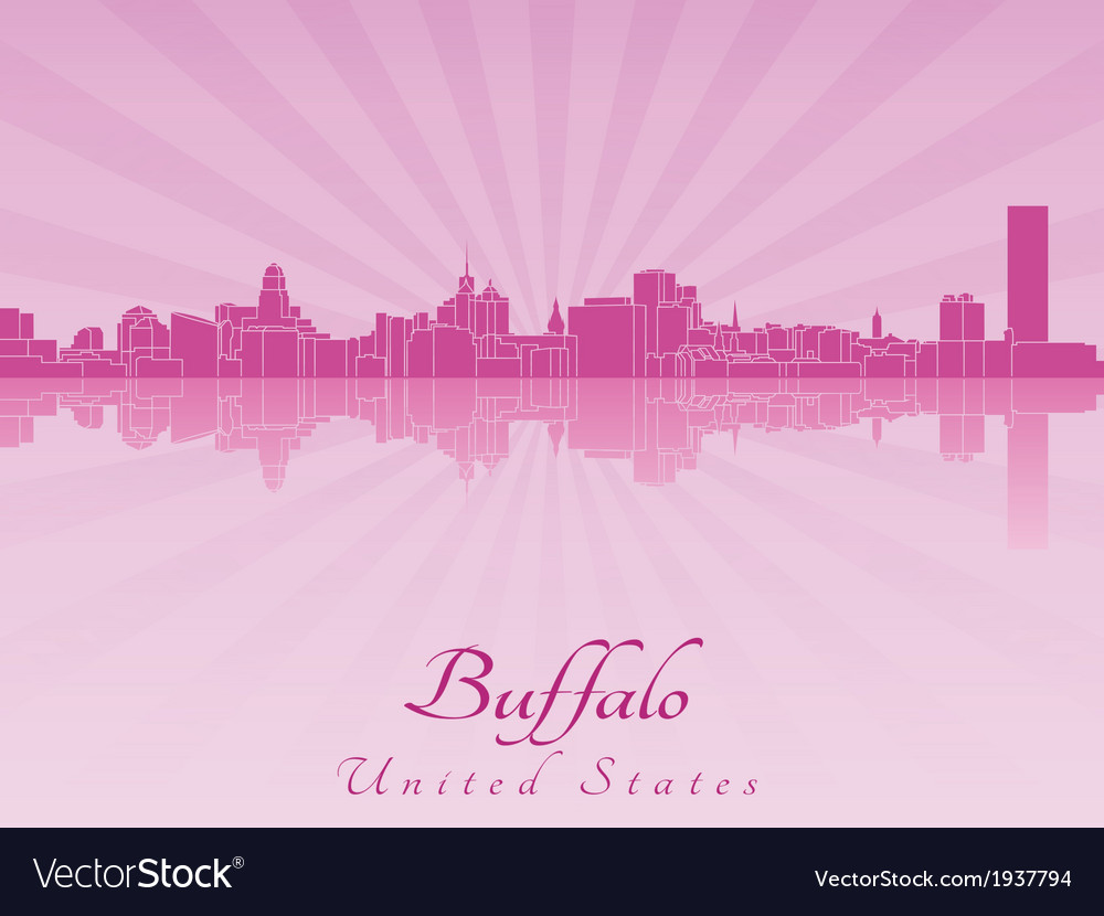 Buffalo skyline in purple radiant orchid vector   Price: 1 Credit (USD $1)