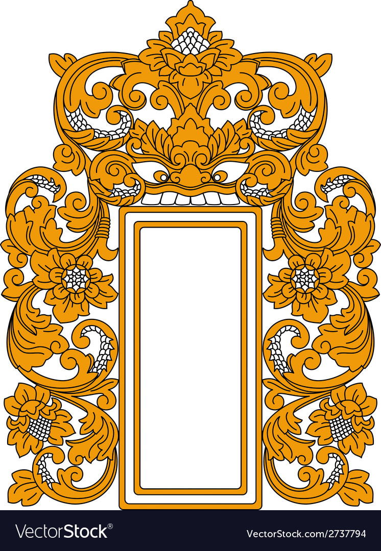 Ethnic indonesian frame vector | Price: 1 Credit (USD $1)