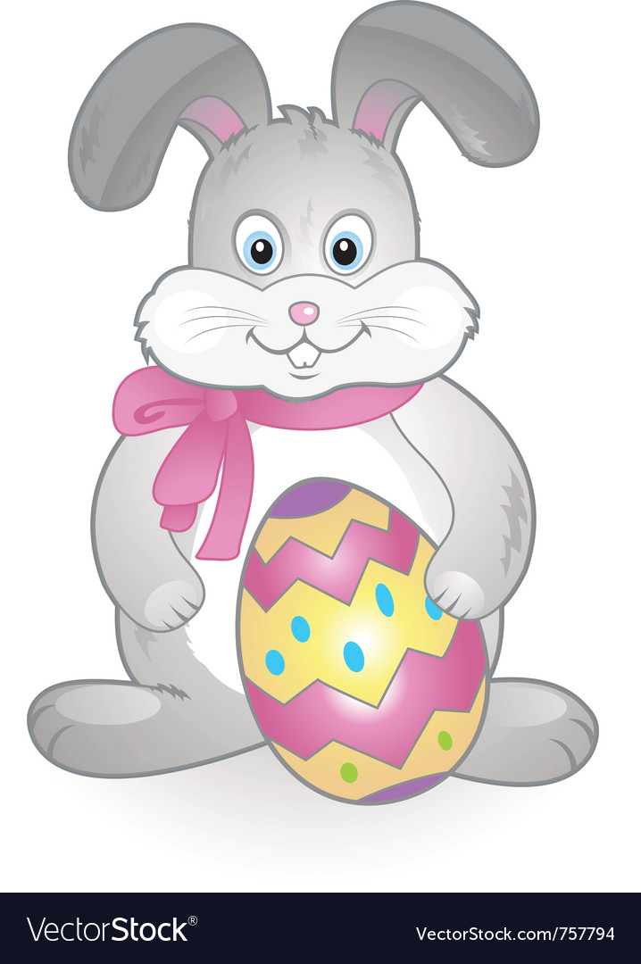Funny happy easter bunny vector | Price: 1 Credit (USD $1)