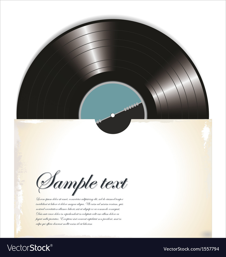 Old vinyl record in a paper case vector | Price: 1 Credit (USD $1)