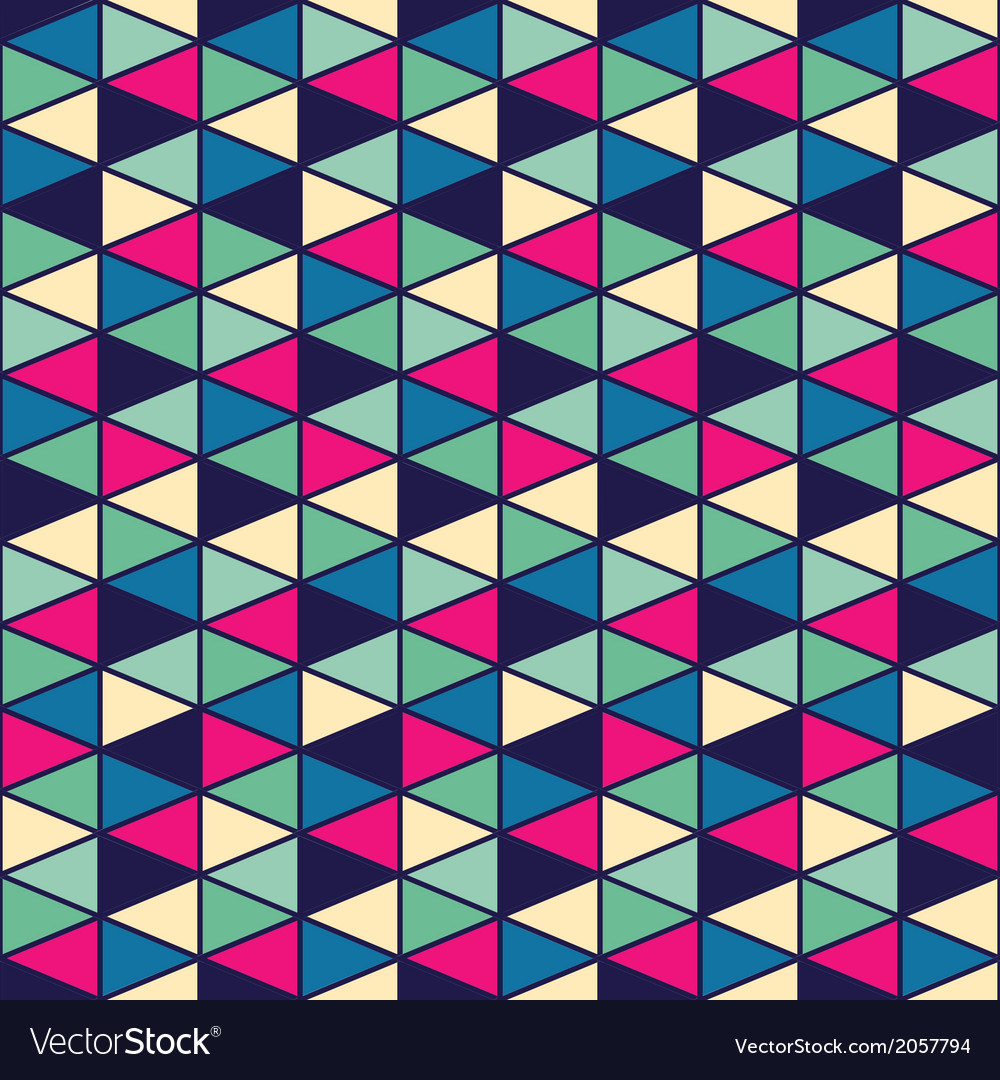 Seamless geometric pattern with geometric shapes vector | Price: 1 Credit (USD $1)