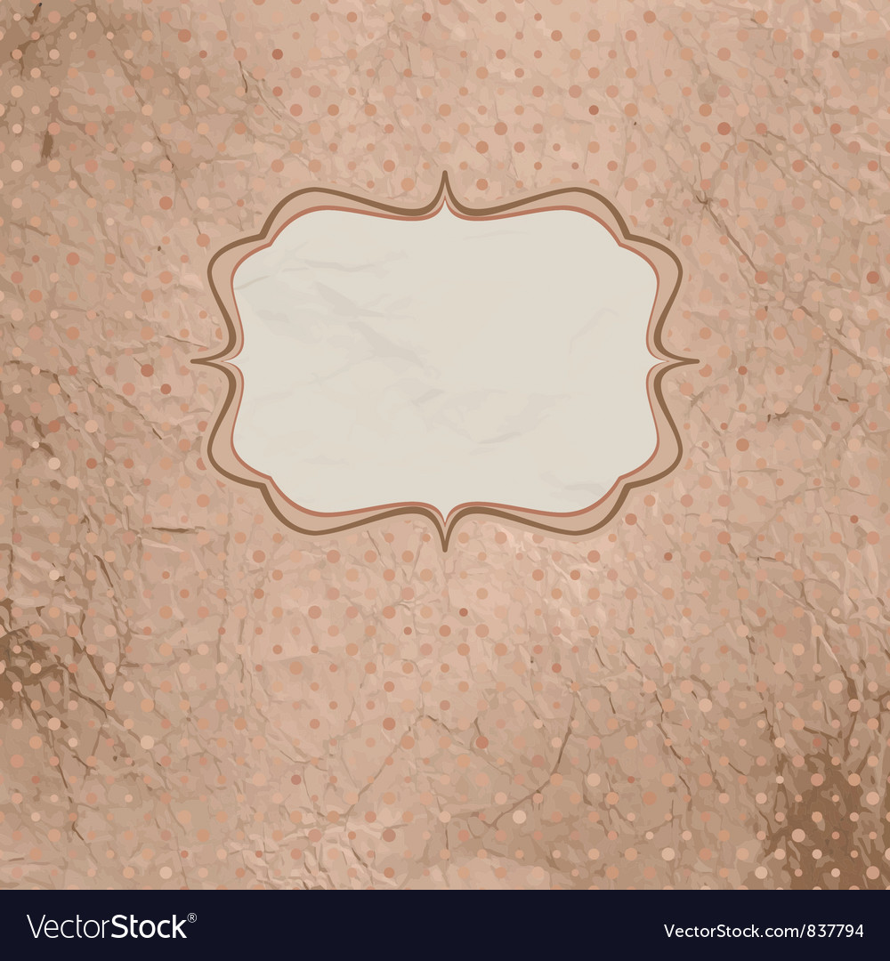 Vintage polka card vector | Price: 1 Credit (USD $1)