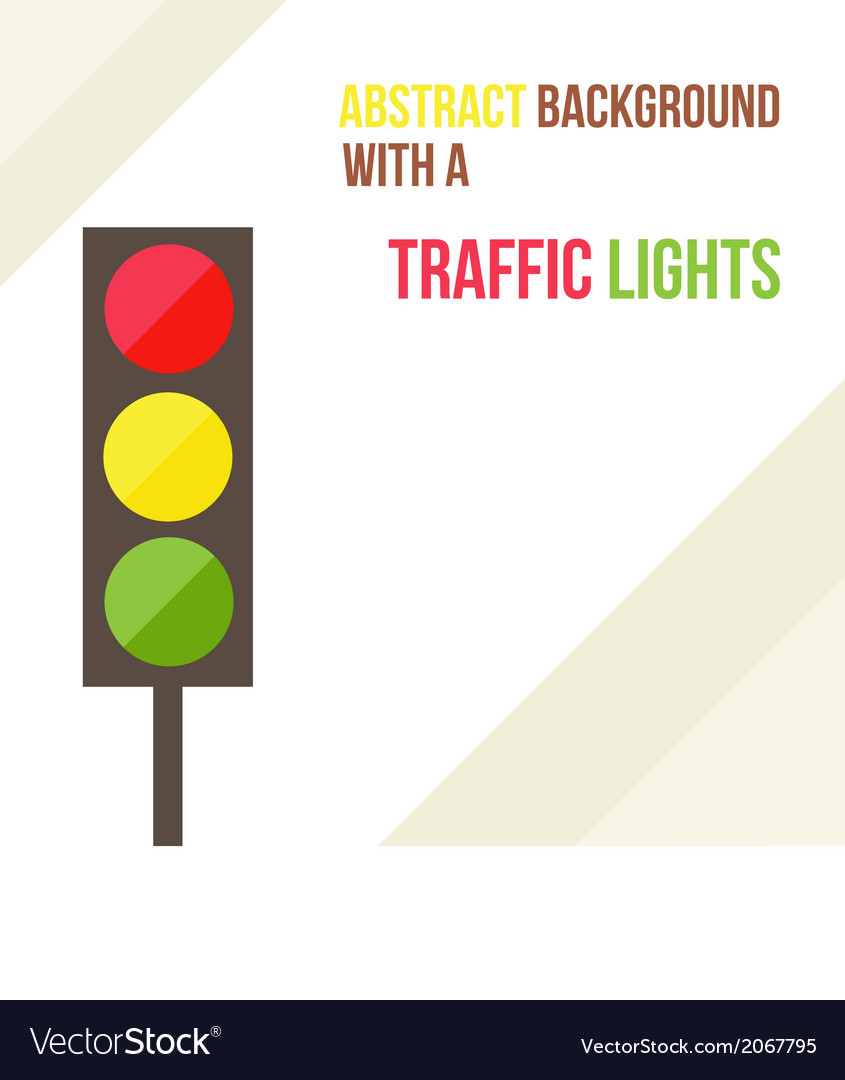 Abstract background with a traffic lights in a vector | Price: 1 Credit (USD $1)