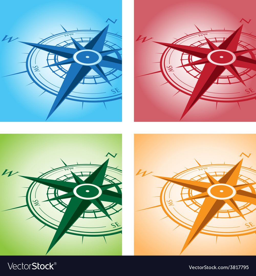 Compass set vector | Price: 1 Credit (USD $1)