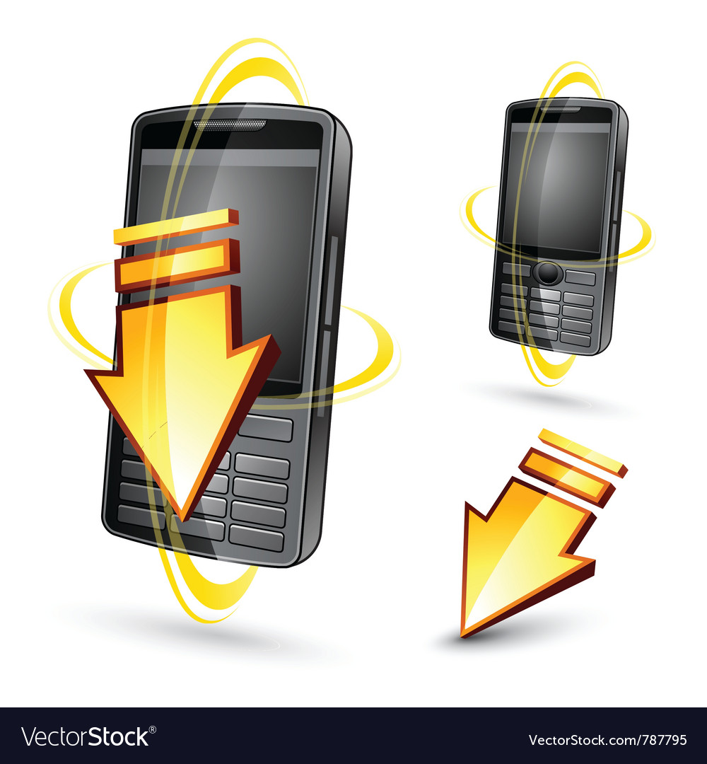 Hand-held electronic devices vector | Price: 3 Credit (USD $3)