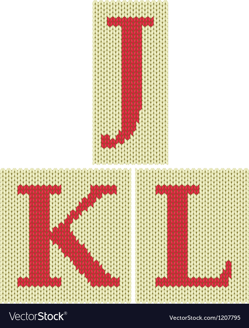 Knitted silhouette letters vector | Price: 1 Credit (USD $1)