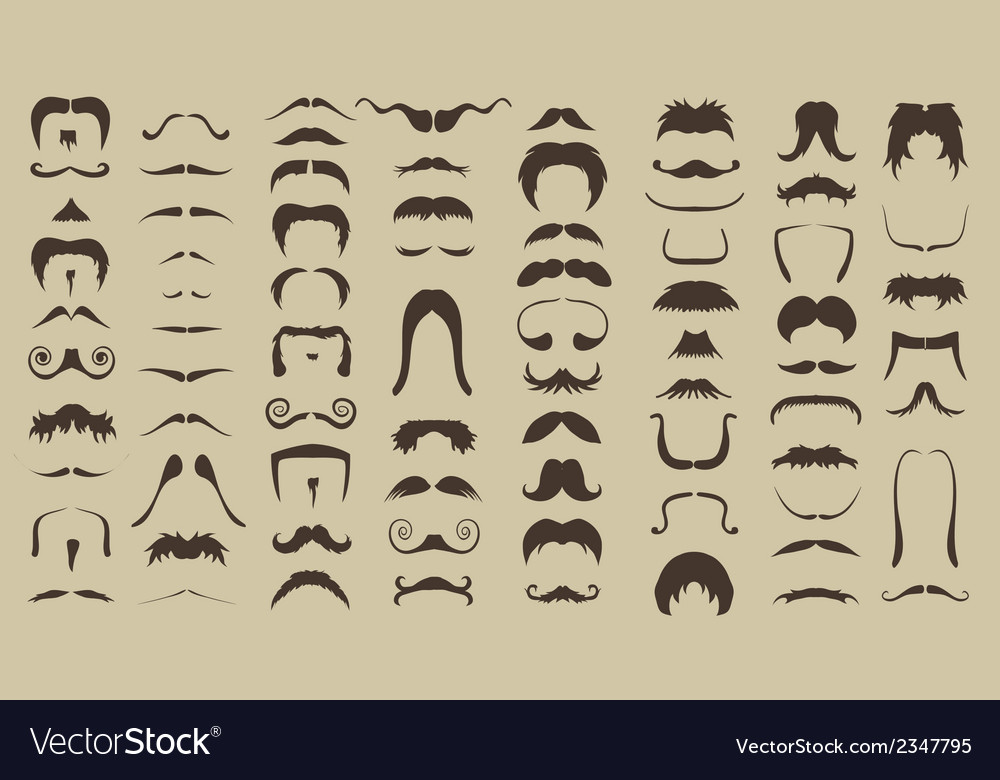 Set of mustache vector | Price: 1 Credit (USD $1)
