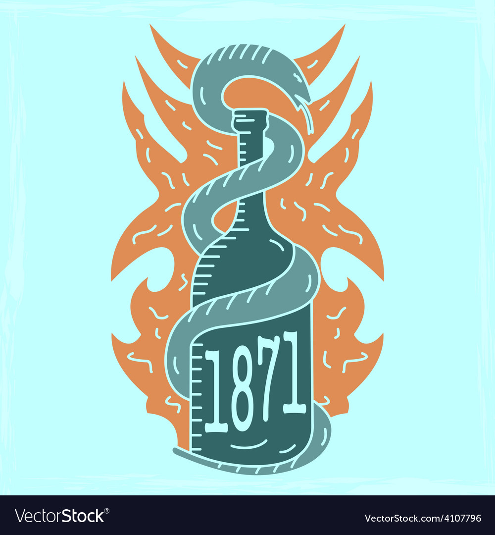 Alcohol emblem lightvs vector | Price: 1 Credit (USD $1)