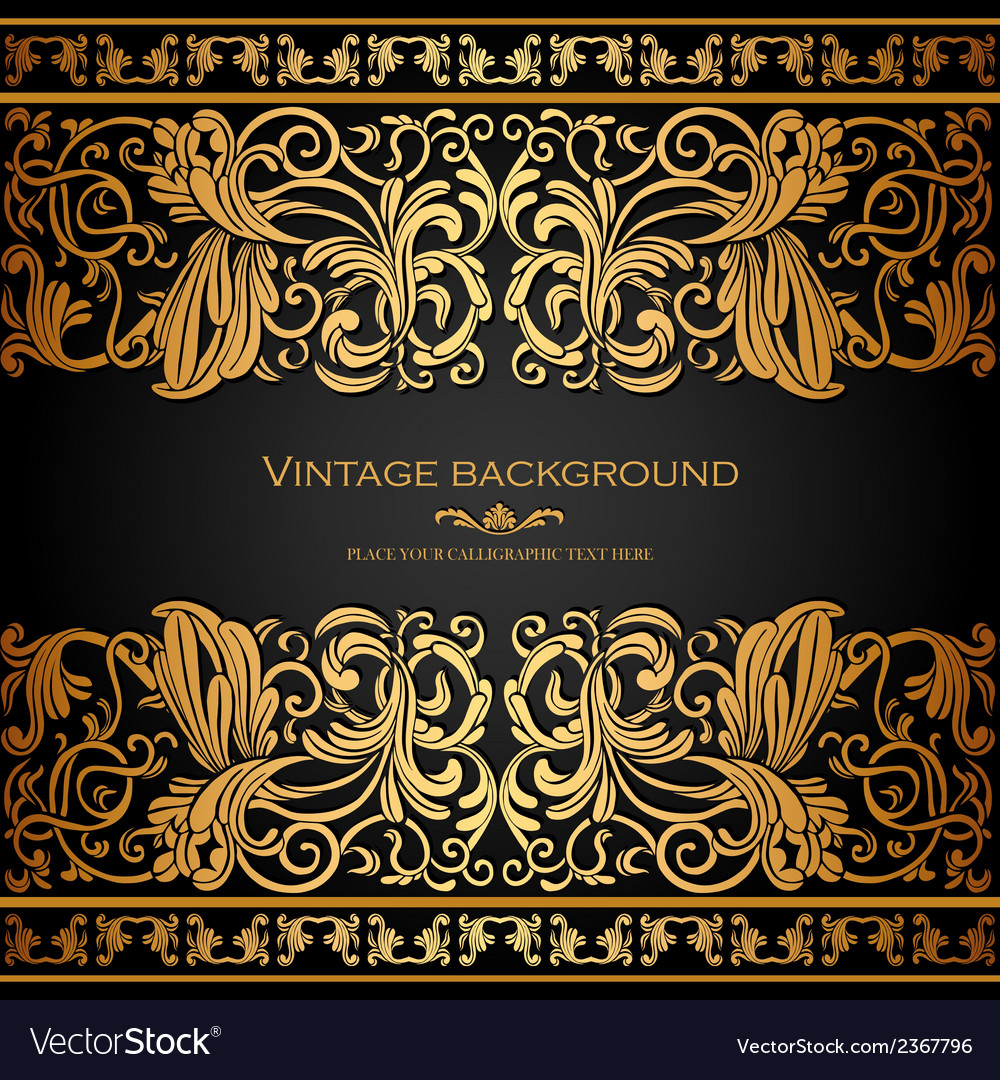 Antique blue card with victorian ornament vector | Price: 1 Credit (USD $1)