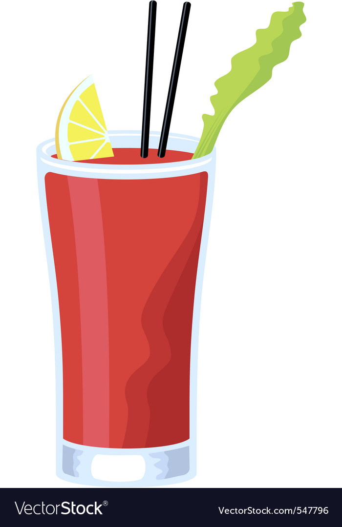 Bloody mary cocktail vector | Price: 1 Credit (USD $1)