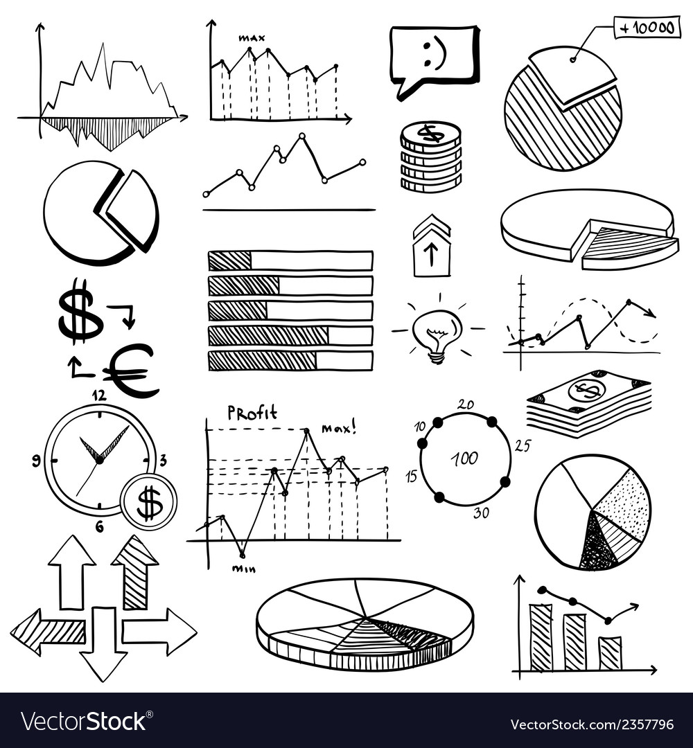 Business finance doodle hand drawn elements with vector   Price: 1 Credit (USD $1)