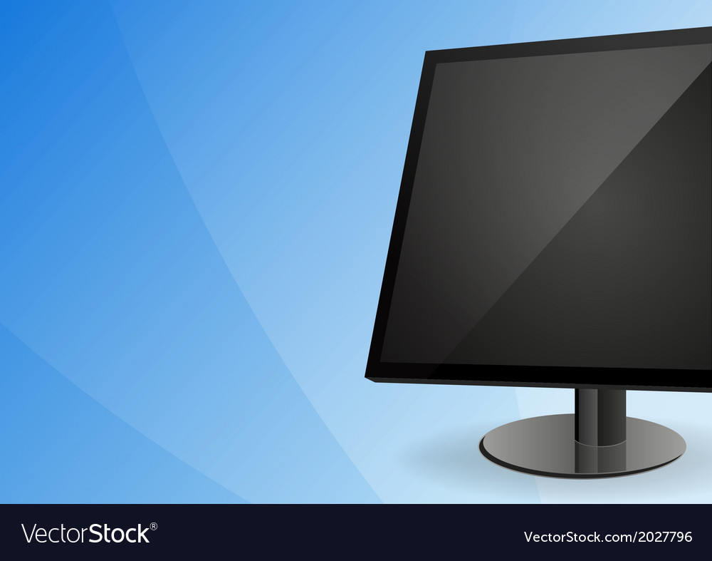 Display on blue background vector | Price: 1 Credit (USD $1)