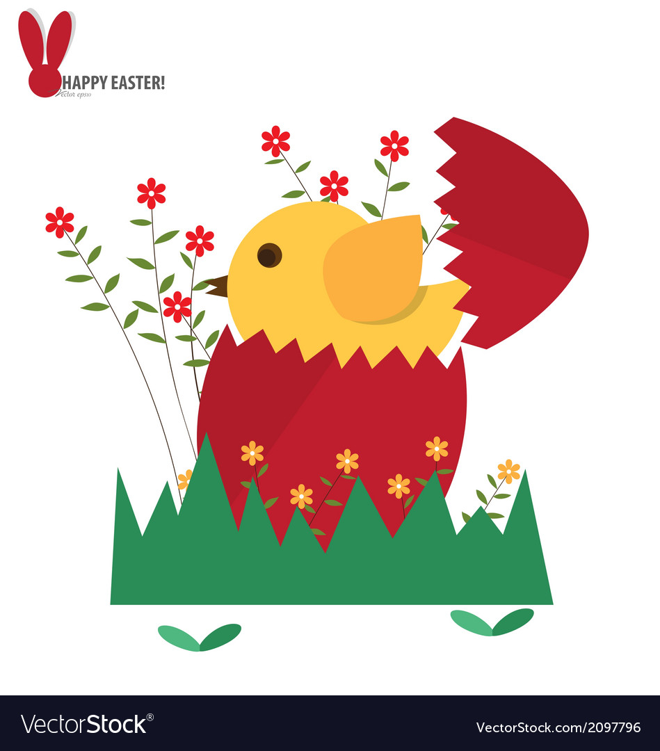 Easter eggs and flower vector | Price: 1 Credit (USD $1)