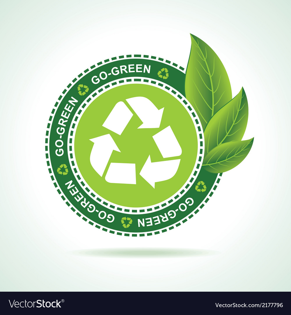 Eco-friendly recycle icon design vector | Price: 1 Credit (USD $1)