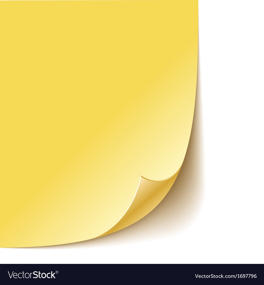 Empty paper corner vector | Price: 1 Credit (USD $1)