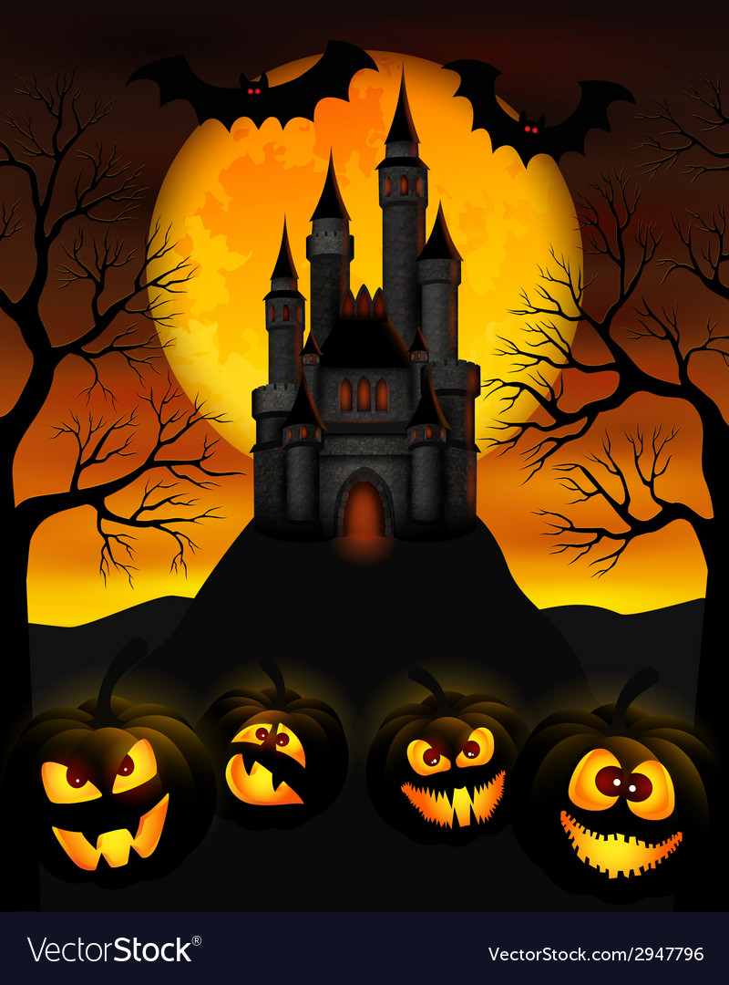 Halloween night vector | Price: 3 Credit (USD $3)