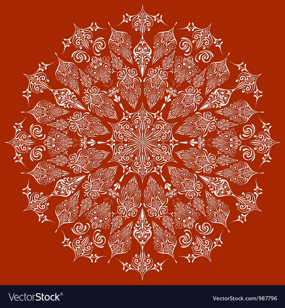 Highly detailed lacy snowflake vector | Price: 1 Credit (USD $1)