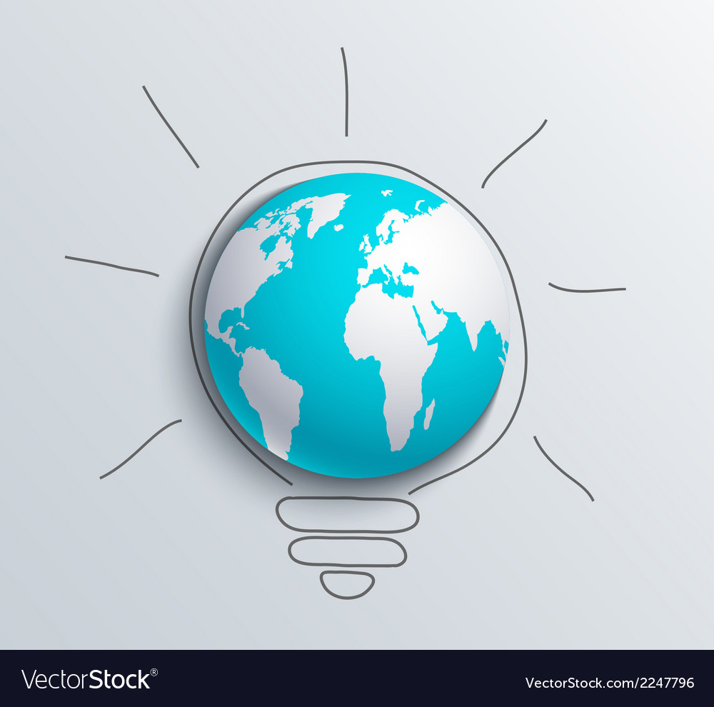 Modern concept idea and world vector | Price: 1 Credit (USD $1)