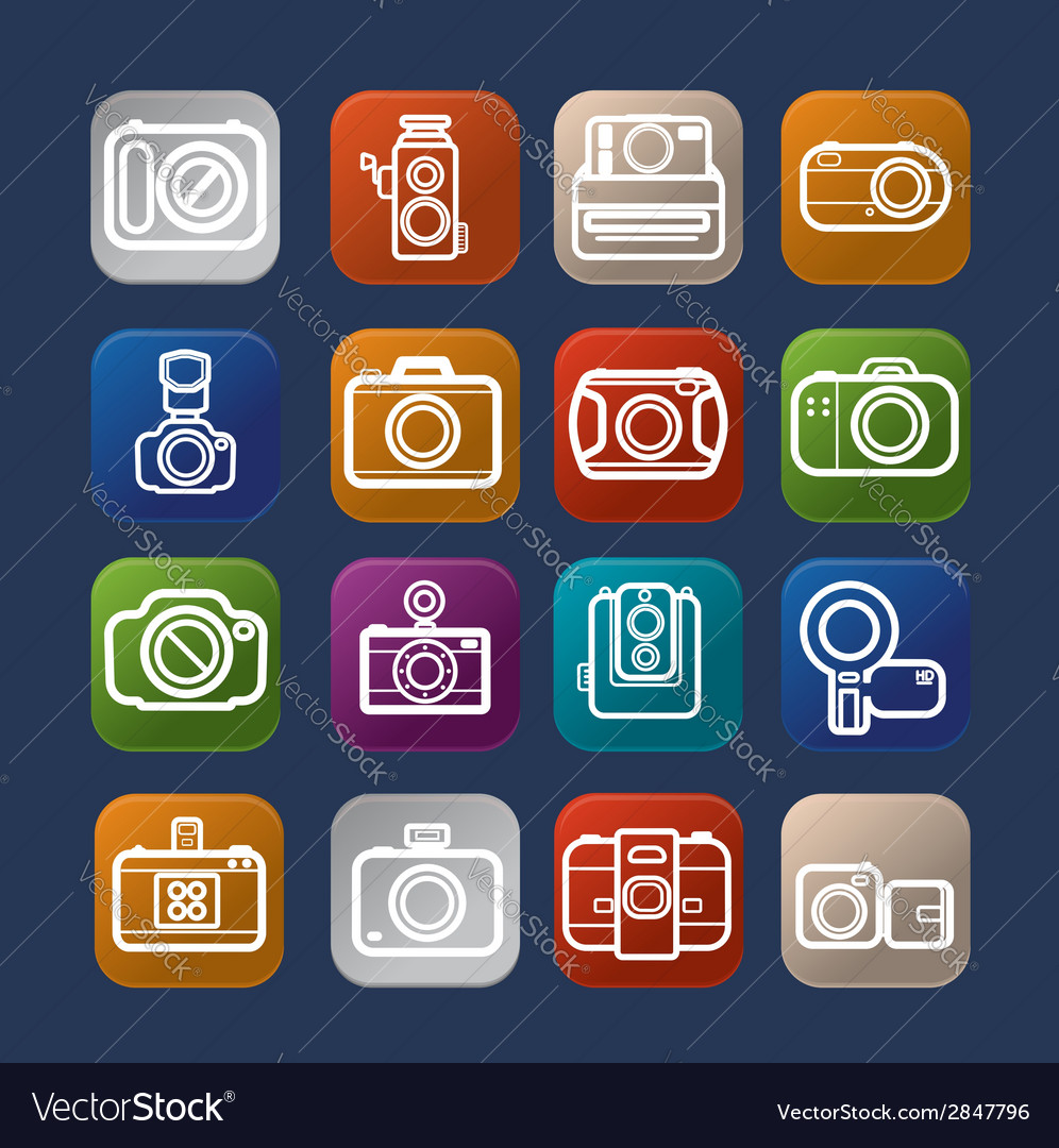 Photography design camera icon over colorful eps10 vector | Price: 1 Credit (USD $1)