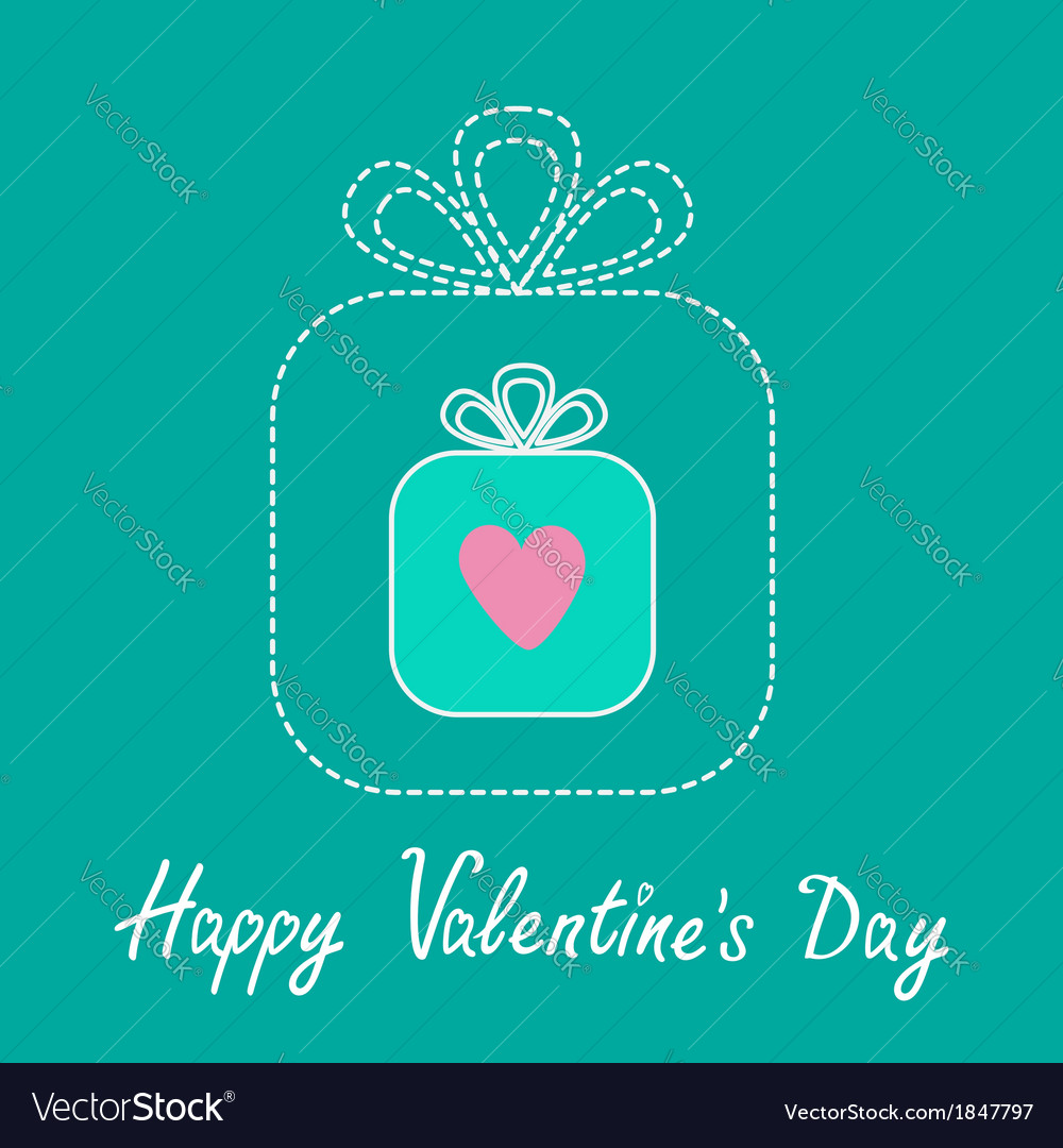 Big gift box and small gift box inside valentines vector | Price: 1 Credit (USD $1)