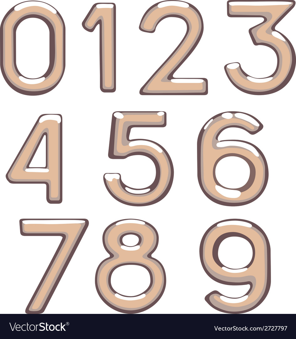 Brilliant figures digit drawing metal number figur vector | Price: 1 Credit (USD $1)