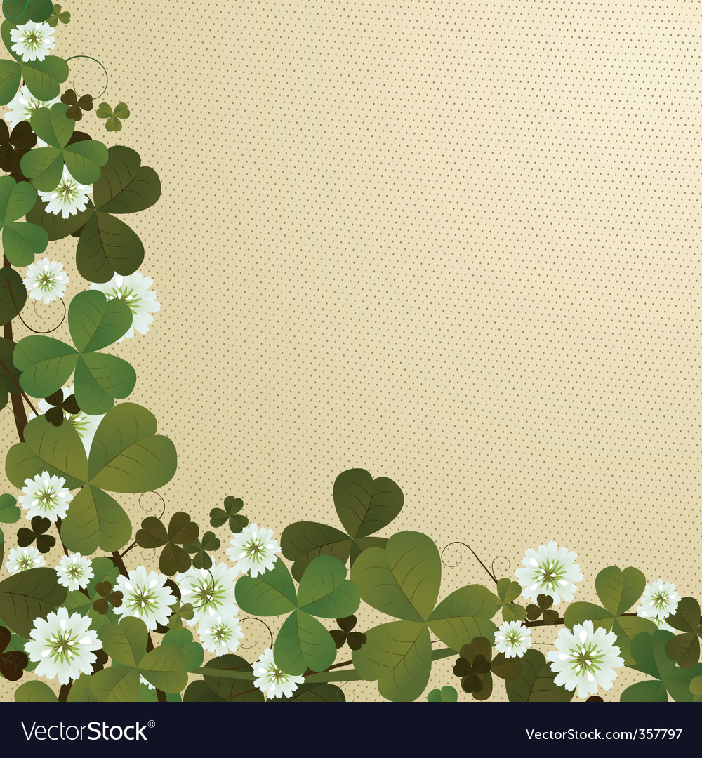 Clover leaf border vector | Price: 1 Credit (USD $1)