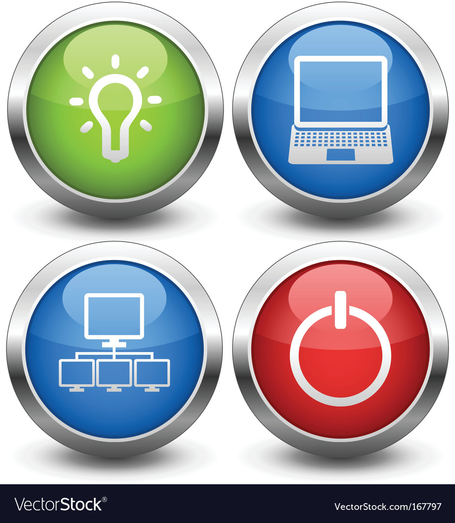 Computer buttons vector | Price: 1 Credit (USD $1)