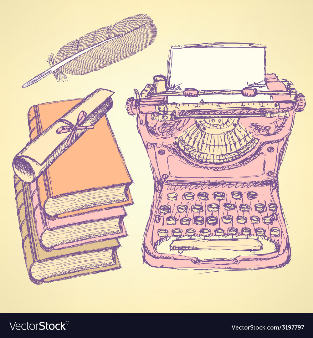 Cute writter set vector | Price: 1 Credit (USD $1)