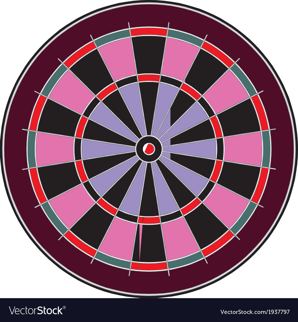 Dart board vector | Price: 1 Credit (USD $1)
