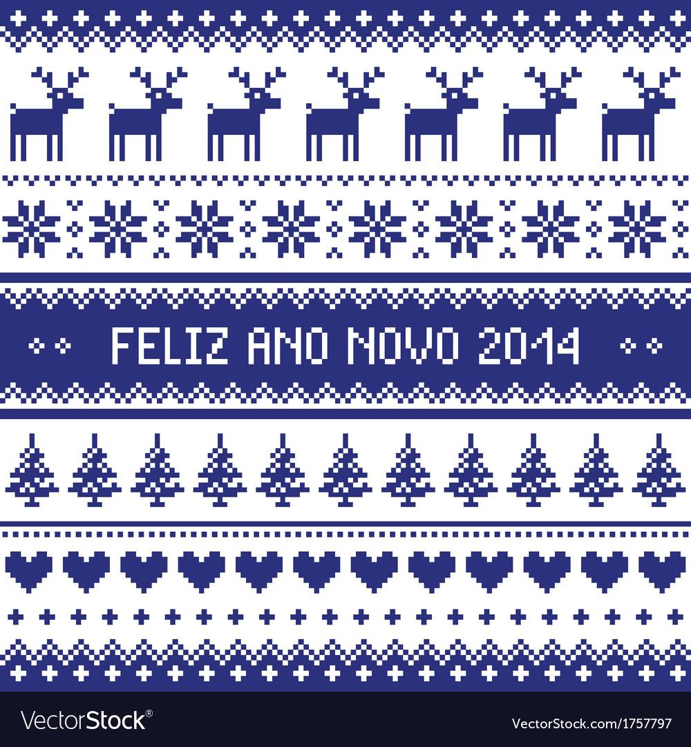 Feliz ano novo 2014 - protuguese happy new year pa vector   Price: 1 Credit (USD $1)