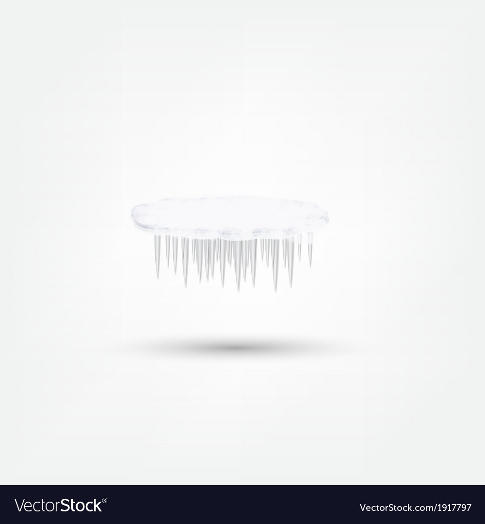 Icicles icon vector | Price: 1 Credit (USD $1)