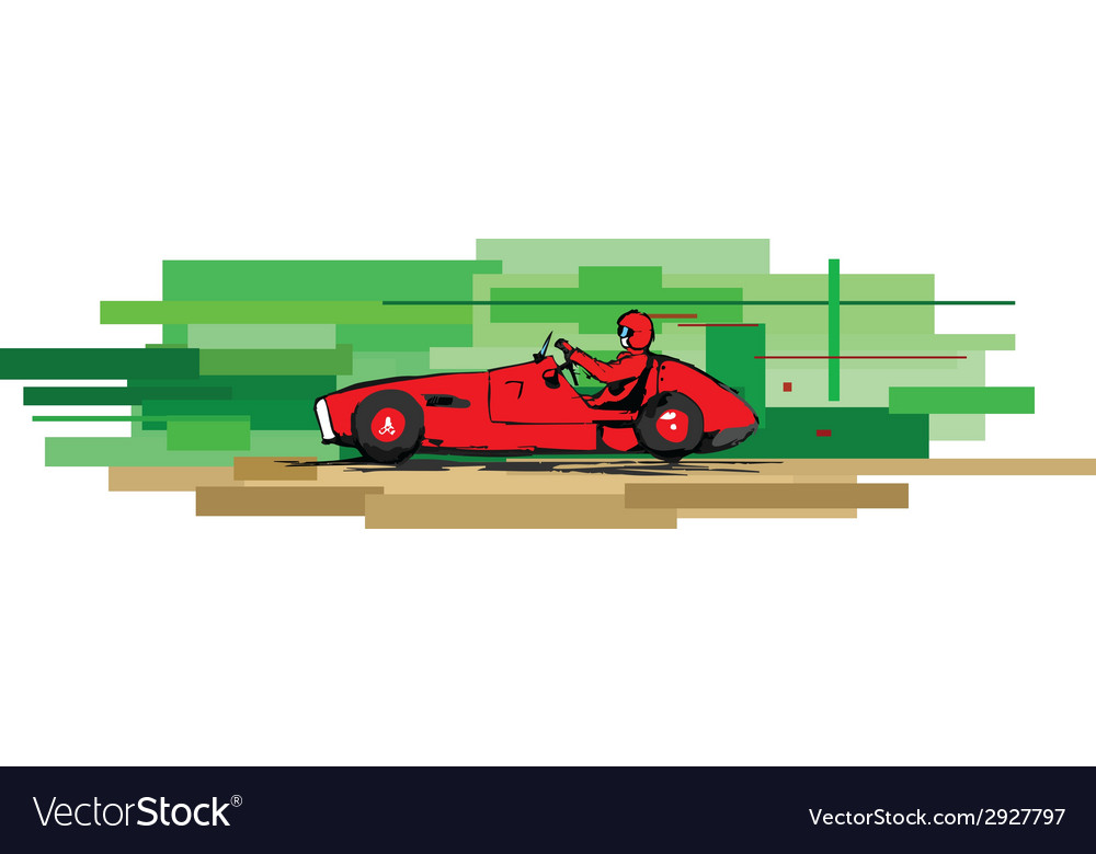 Old sports car vector | Price: 1 Credit (USD $1)