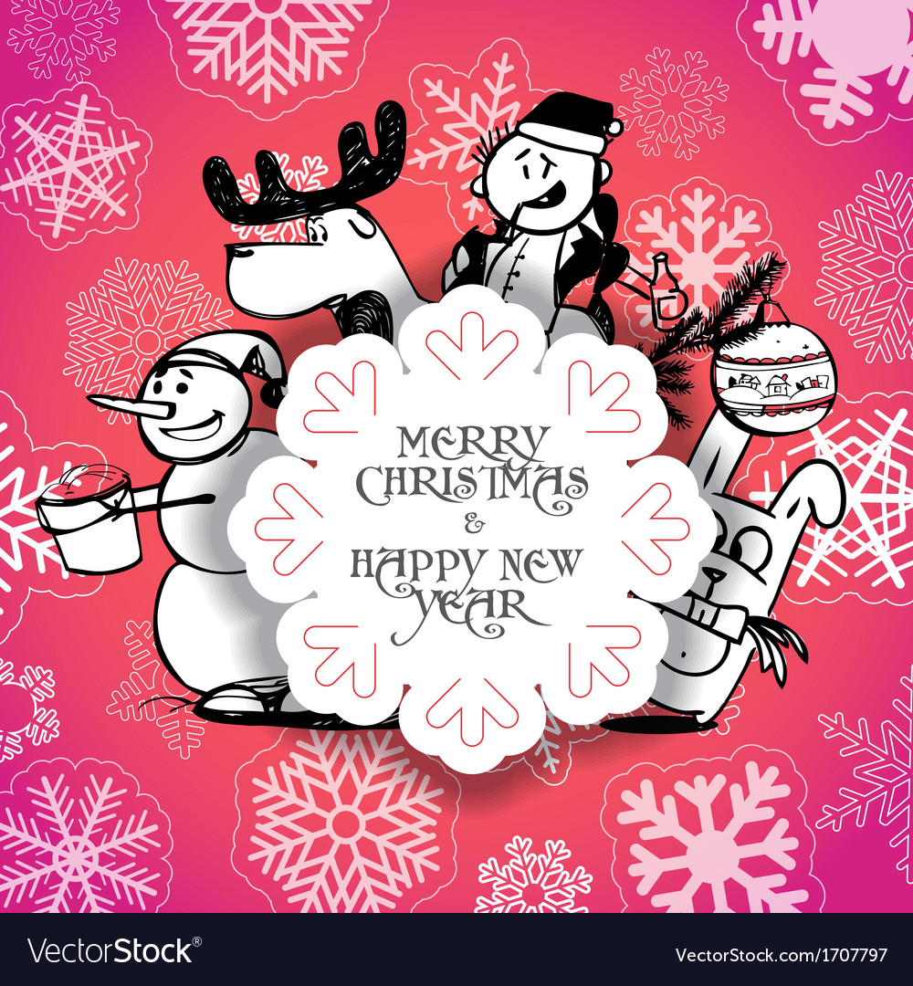 Red christmas greeting card vector   Price: 1 Credit (USD $1)