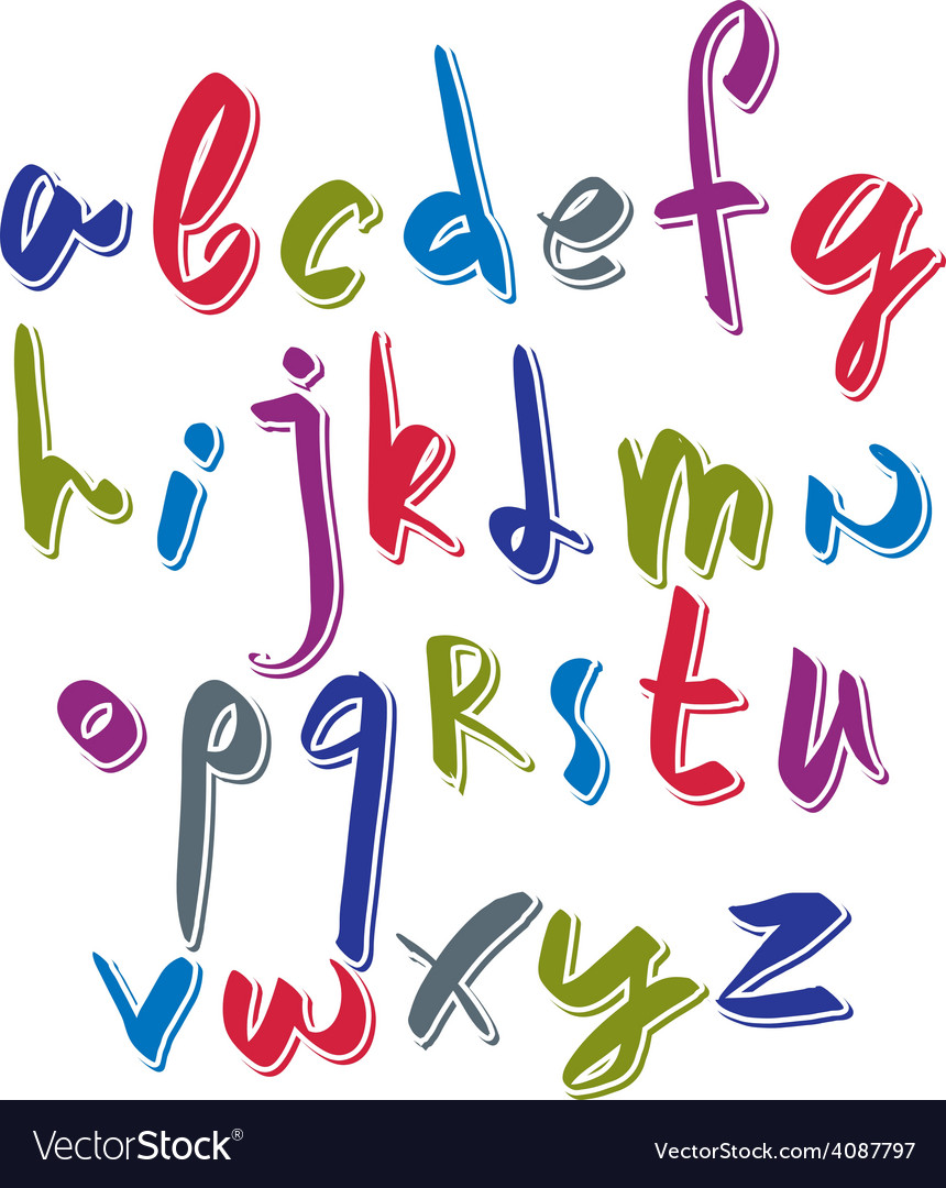 Script font alphabet letters vector | Price: 1 Credit (USD $1)