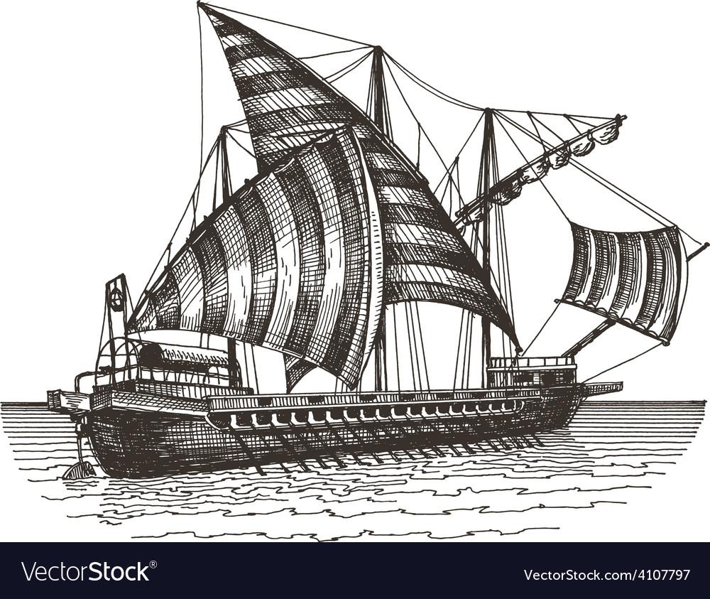 Ship logo design template sailing vessel vector | Price: 3 Credit (USD $3)