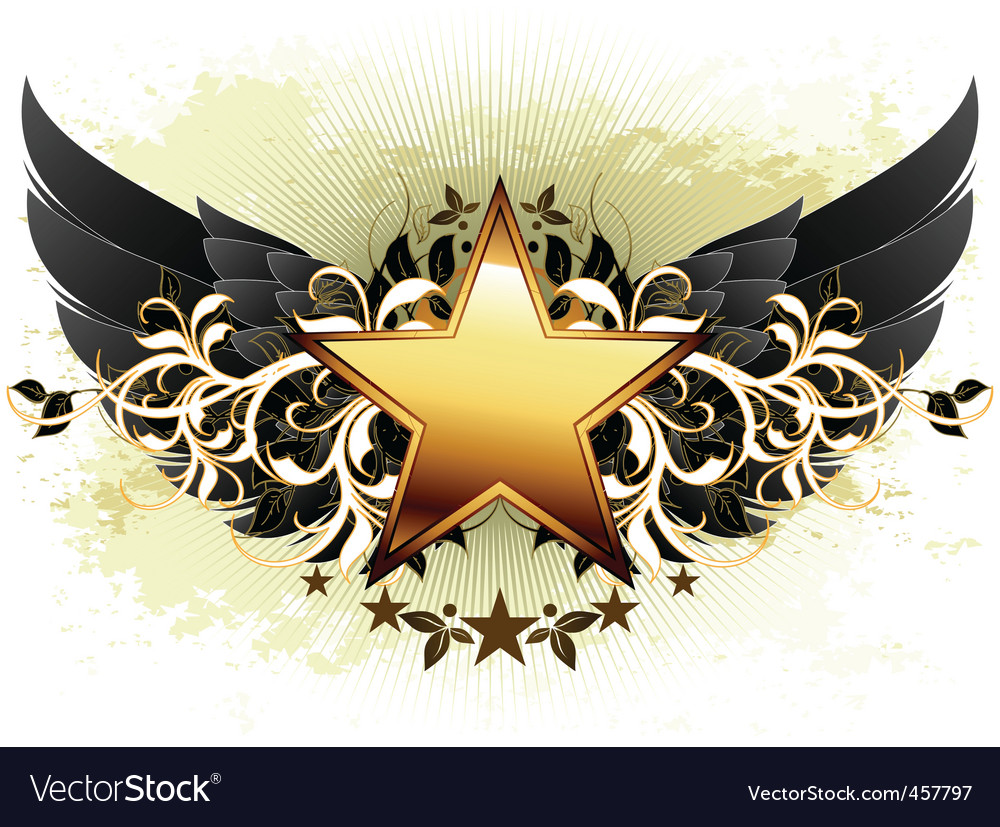 Star with ornate elements vector | Price: 1 Credit (USD $1)