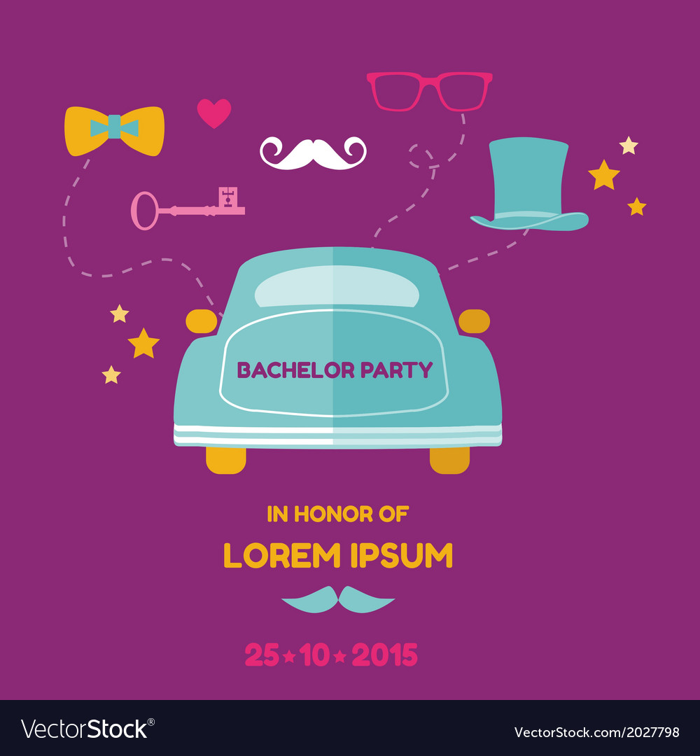Bachelor party card - wedding invitation card vector | Price: 1 Credit (USD $1)