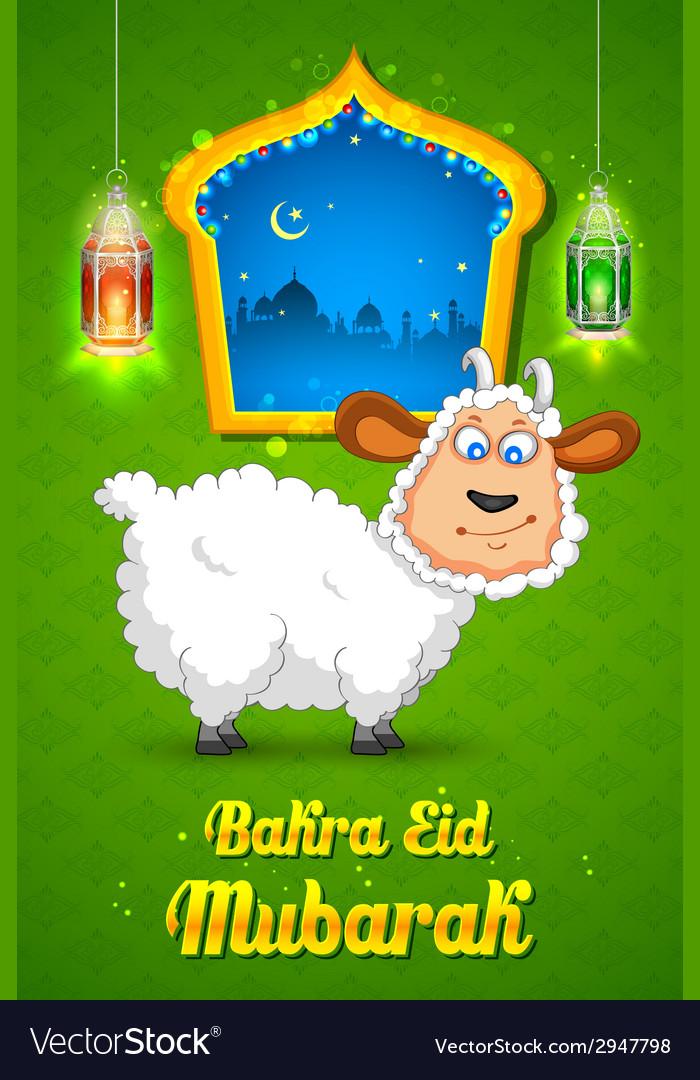 Bakra id mubarak vector | Price: 1 Credit (USD $1)