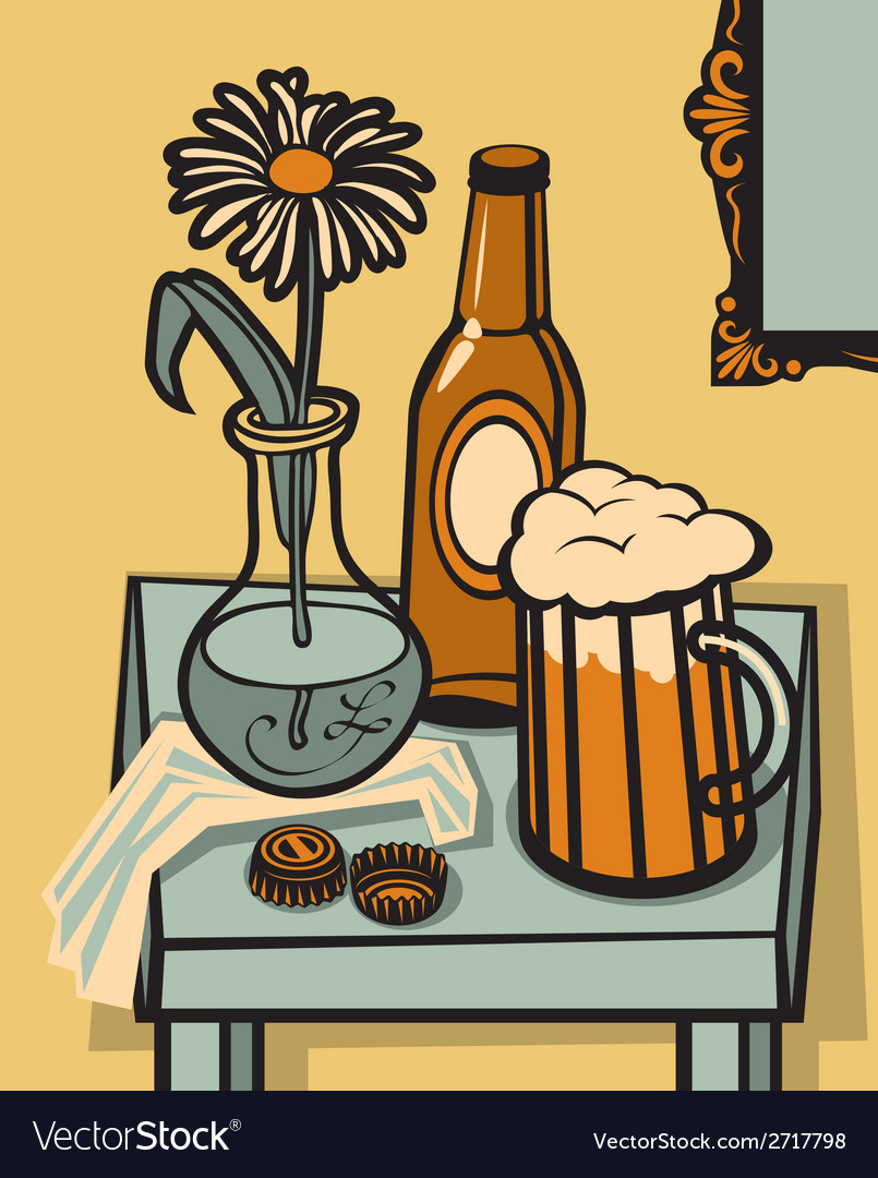 Beer still life vector | Price: 1 Credit (USD $1)
