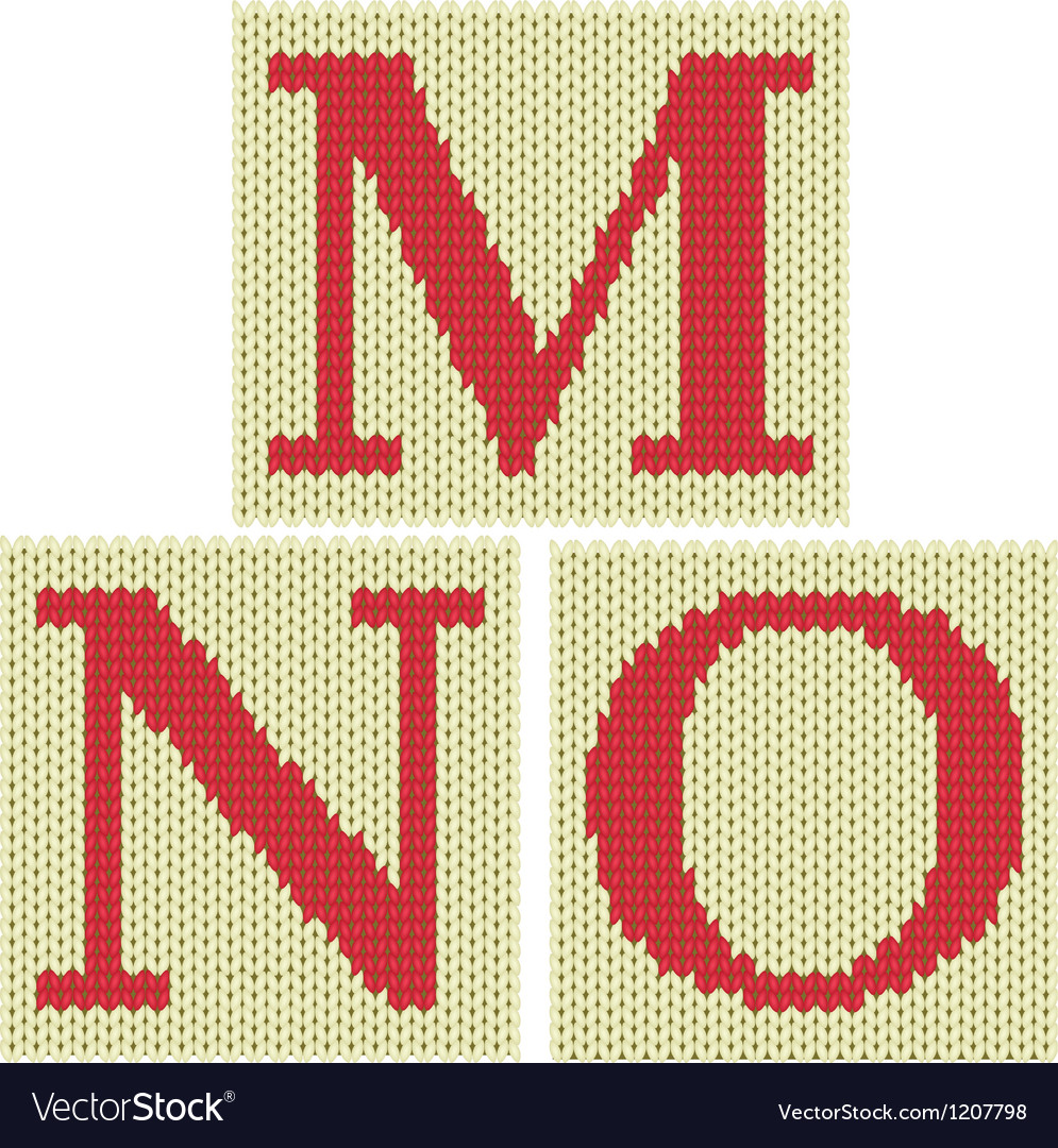 Knitted letters vector   Price: 1 Credit (USD $1)