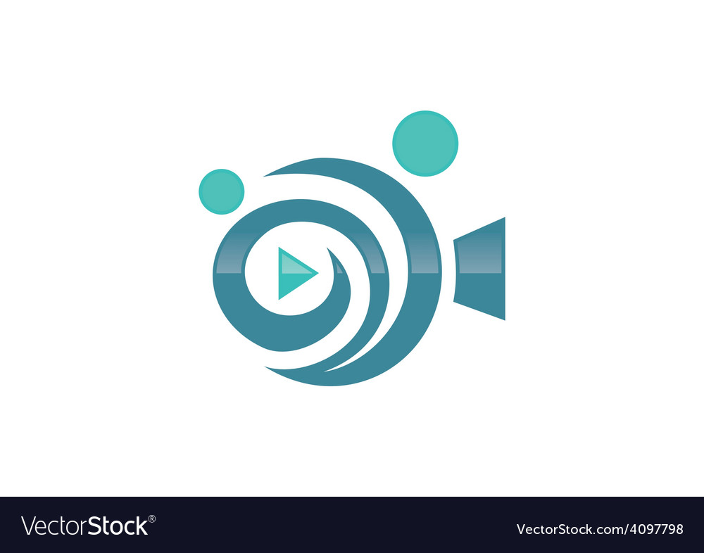 Movie film play people abstract logo vector
