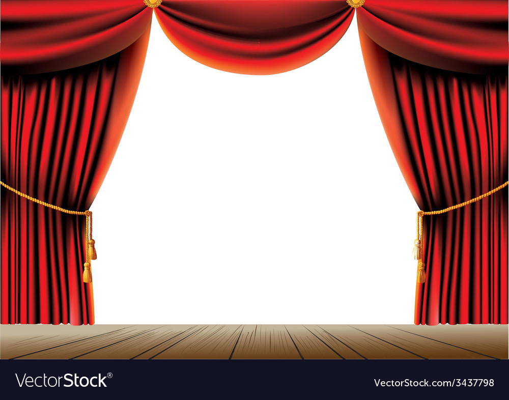 Red theater curtain vector | Price: 3 Credit (USD $3)