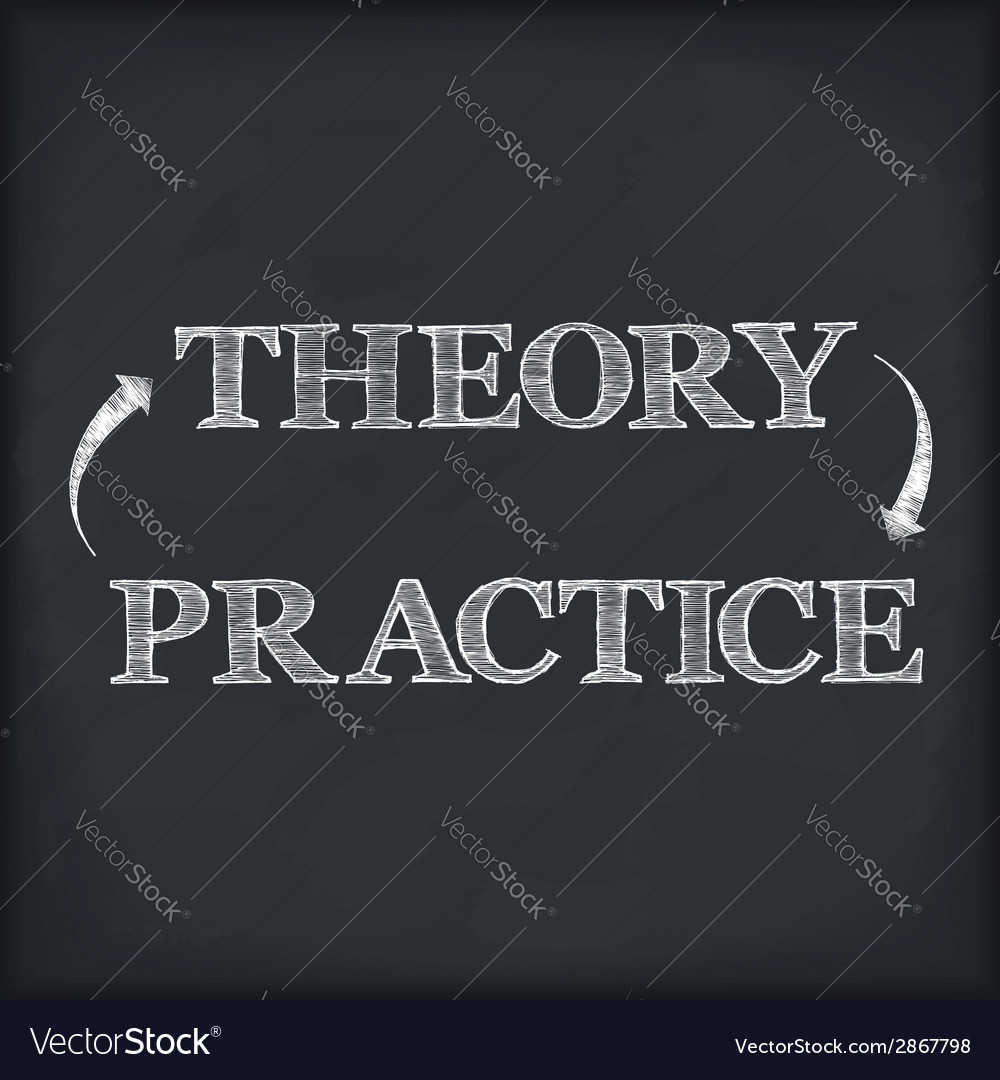 Theory - practice vector | Price: 1 Credit (USD $1)