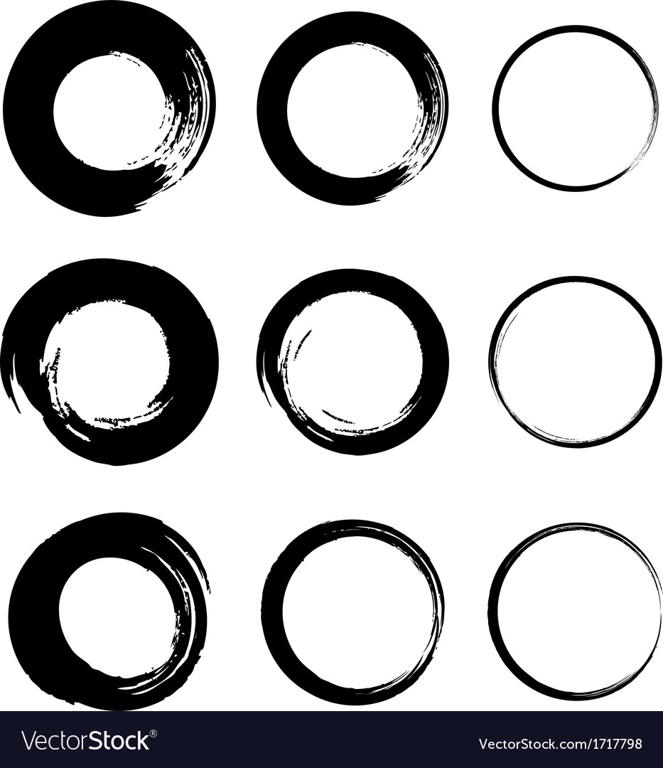 Set of grunge circle stains vector | Price: 1 Credit (USD $1)