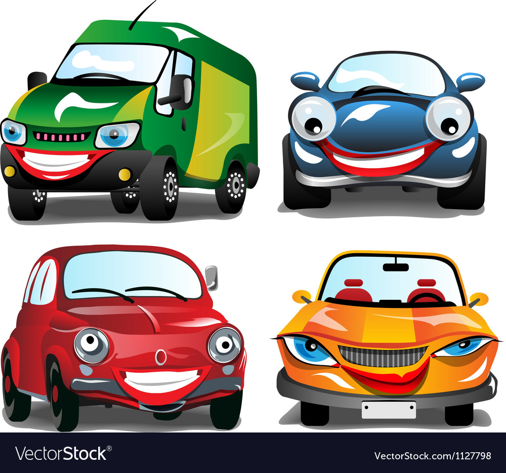 Smiling car vector | Price: 1 Credit (USD $1)