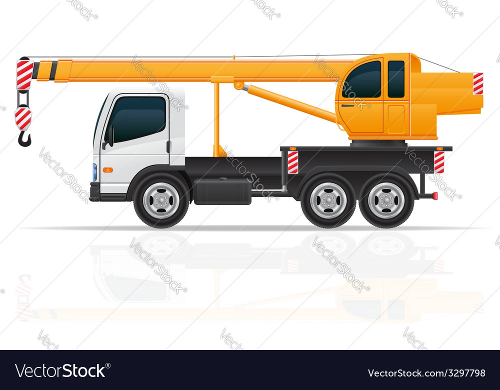 Truck crane vector | Price: 3 Credit (USD $3)