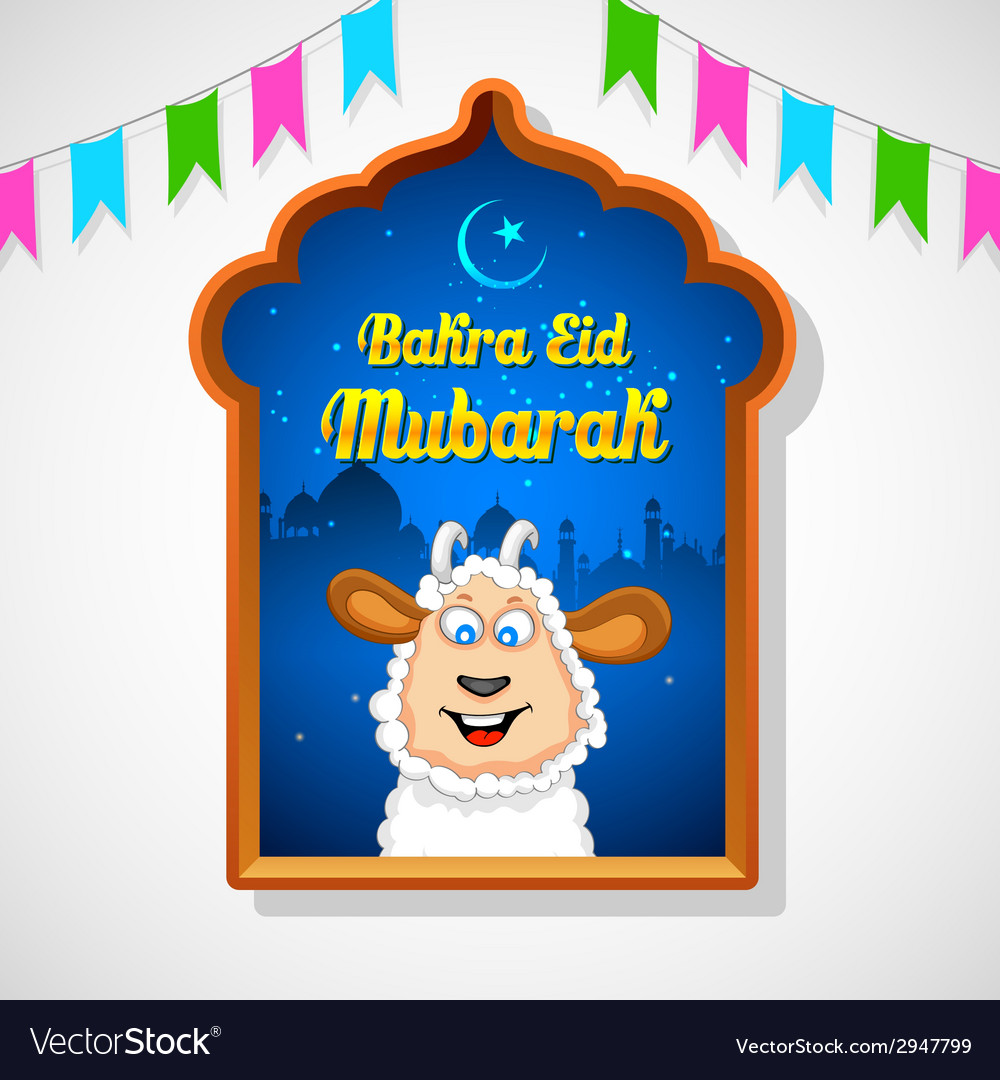 Bakra id mubarak vector | Price: 1 Credit (USD $1)